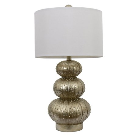 Sea Urchin Lamp, Silver Leaf