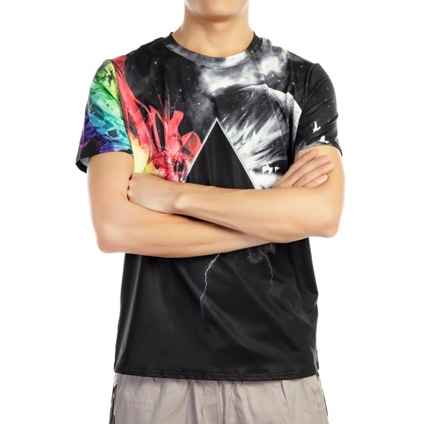 Mens T-Shirts 3D Graphics Print Short Sleeve Funny Summer T-Shirt
