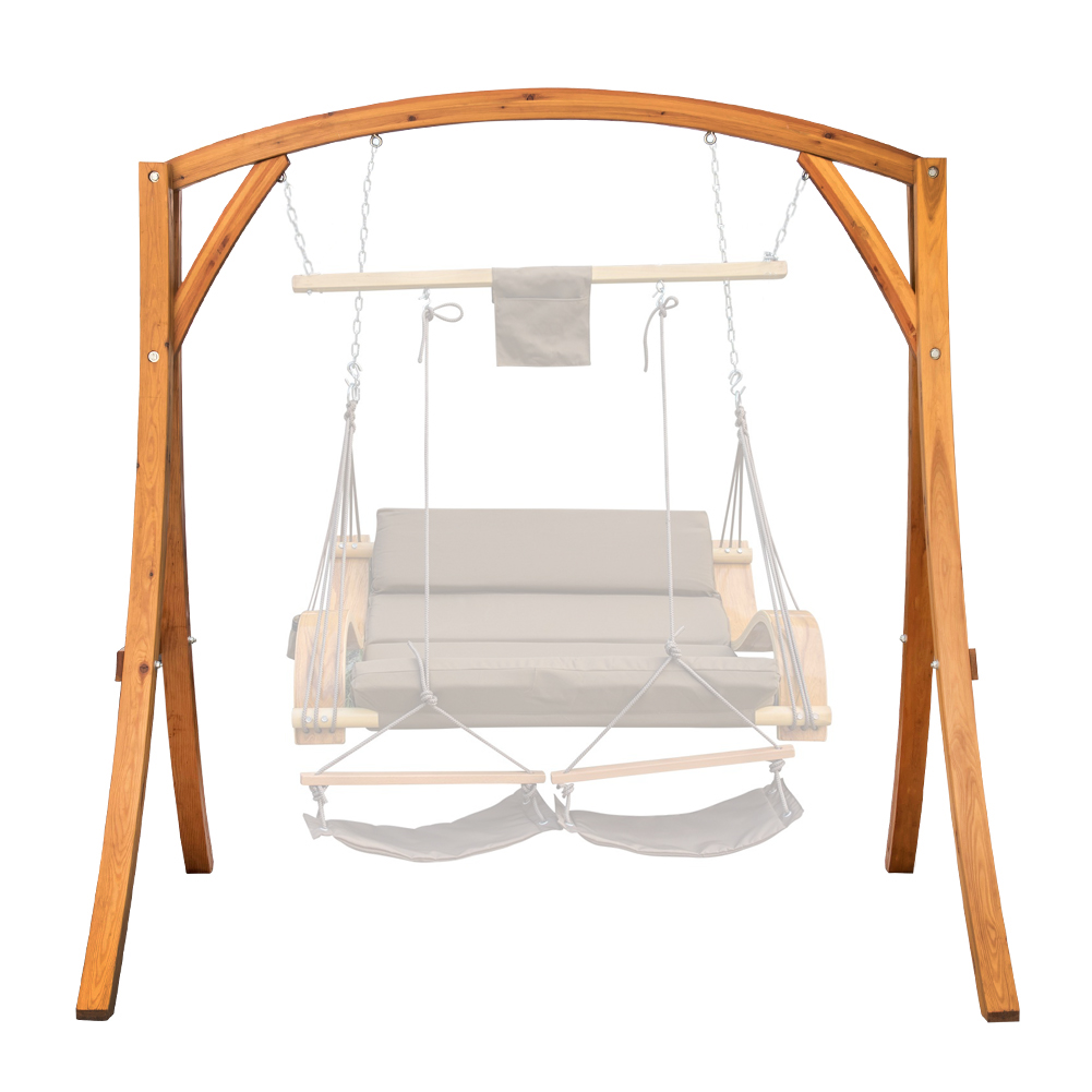 Lazy Daze Hammocks Deluxe Wooden Arc Frame Hammock Swing Chair Stand Heavy Duty Russian Pine Hardwood, Capacity 450 lbs
