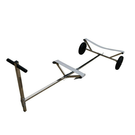 Launch Boat Trailer - stainless Steel Boat Transom Launching Trailer Hand Dolly for Inflatable with 16'' wheels