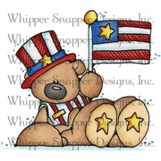 "Whipper Snapper Cling Stamp 4""X6""-Patriotic Bear"