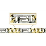 Sindbad Jewelry BR407B-2T-8.5 10 Kt Gold Yellow & White Casting Bracelet