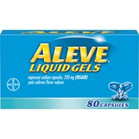 Aleve Liquid Gels w Naproxen Sodium, Pain Reliever/Fever Reducer, 220 mg, 80 Ct