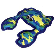 PetLou Seawarrior Crab Durable Plush Soft Squeaks Interactive Dog Chew Toy 11 inch