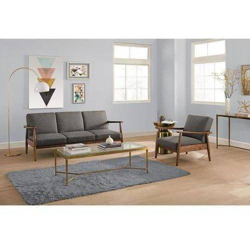 Better Homes and Gardens Mid Century Futon and Chair, Multiple Colors