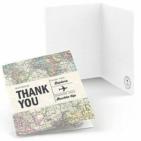World Awaits - Travel Themed Party Thank You Cards (8 count)](Halloween Party Thank You Quotes)