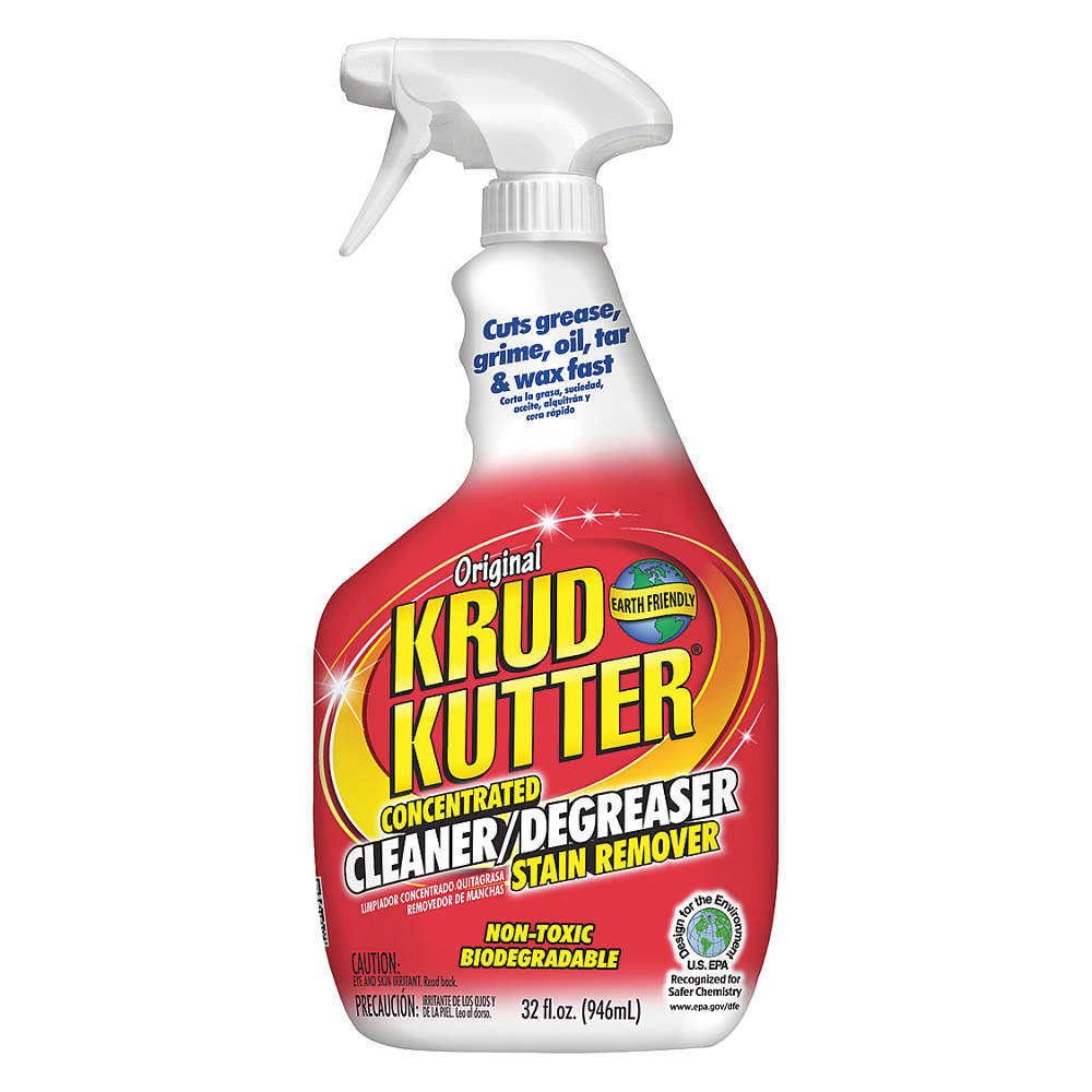 KRUD KUTTER Solvent Cleaner/Degreaser,  32 oz. Spray Bottle KK326