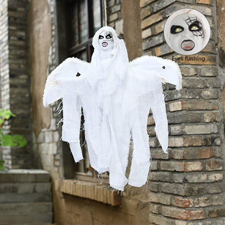 Halloween Hanging Animated Clown Ghosts Voice Control Moaning Phantom (Ghosts Hanging In Trees Halloween)