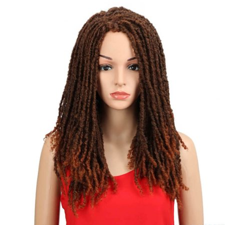 Noble 22 Inch Synthetic Wigs Crochet Braids Twist Jumbo Dread Faux Locs Hairstyle Long Afro Brown