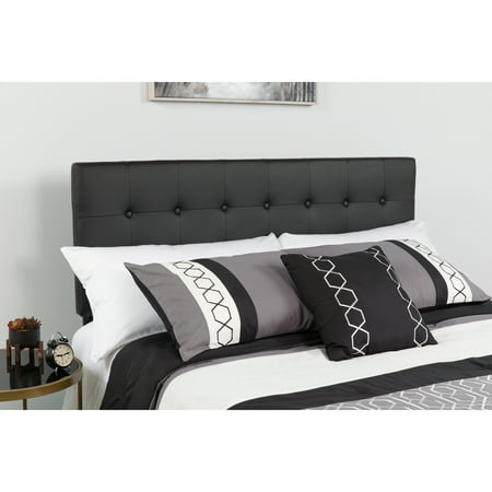 Flash Furniture Lennox Tufted Upholstered Headboard, Full, Black Mission Style Headboard