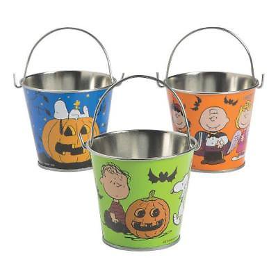 IN-13703125 Peanuts Halloween Pails Per Dozen By Fun Express (Halloween Pails Wholesale)