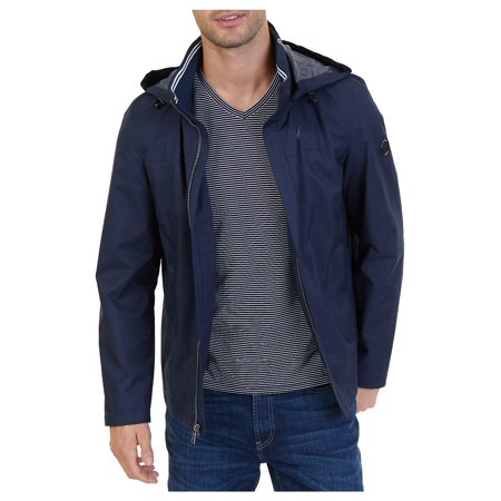 Water Repellent Hooded Jacket](tommy hilfiger men's nylon hooded puffer bomber jacket)