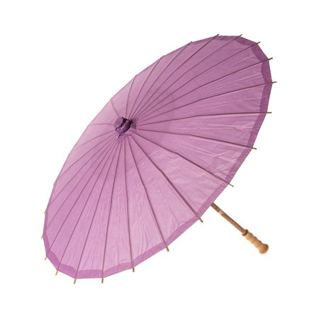 Paper Parasol (20-Inch, Lilac Purple) - Chinese/Japanese Paper Umbrella - For Children, Decorative Use, and DIY (Chinese Japanese Paper)