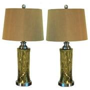 Casa Cortes  Salina 27-inch Mercury Glass Table Lamp  (Set of 2)