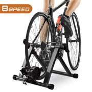 """Turbo Bike Trainer, Heavy Duty Stable Riding Stand Supports 350lbs Indoor Bicycle Trainer Fits 26-28"""" 700c Road/Mountain Bike Adjustable 8 Levels Resistance Bike Riding Stand"""