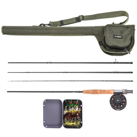 9' Fly Fishing Rod and Reel Combo with Carry Bag 20 Flies Complete Starter Package Fly Fishing
