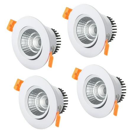 4 Pcs 90mm Dia 5W COB Downlight Housing Recessed Ceiling Light Spotlight Shell - image 5 de 5