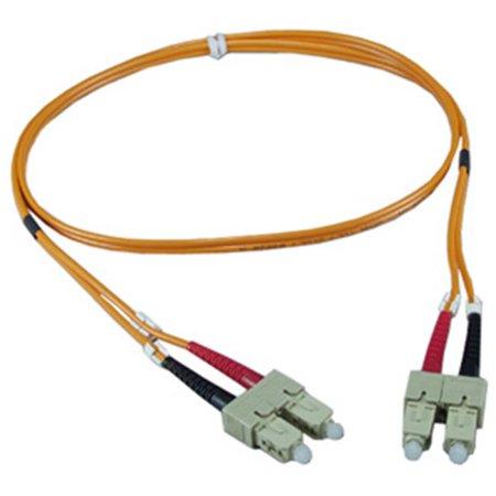 Qvs Qvs 1 Meter Orange Sc To Sc Multimode Fiber Duplex Patch Cord