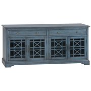 32 in. Media Unit in Antique Blue