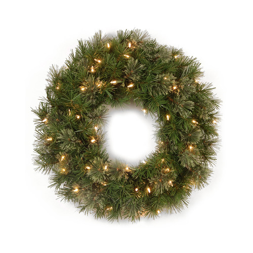 Northlight Seasonal Pre-Lit Atlanta Mixed Cashmere Pine Artificial Christmas Wreath