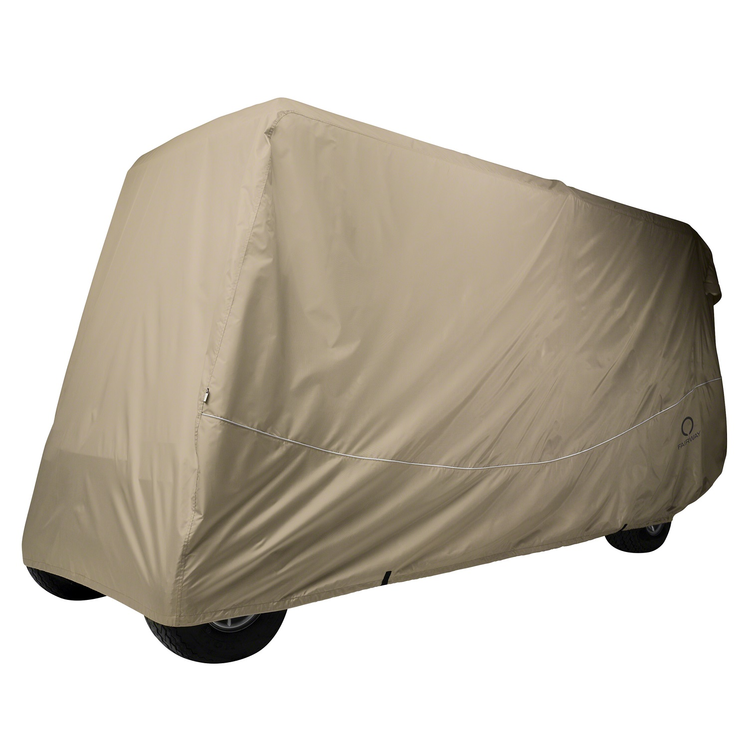 Classic Fairway Golf Cart Quick-Fit Cover X-Long Roof Khaki by Classic Accessories
