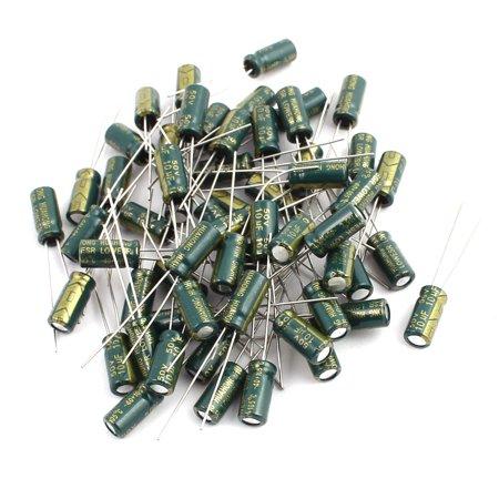 - 60Pcs 50V 10UF Aluminum Electrolytic Capacitors 105 degree Celsius 5x11mm