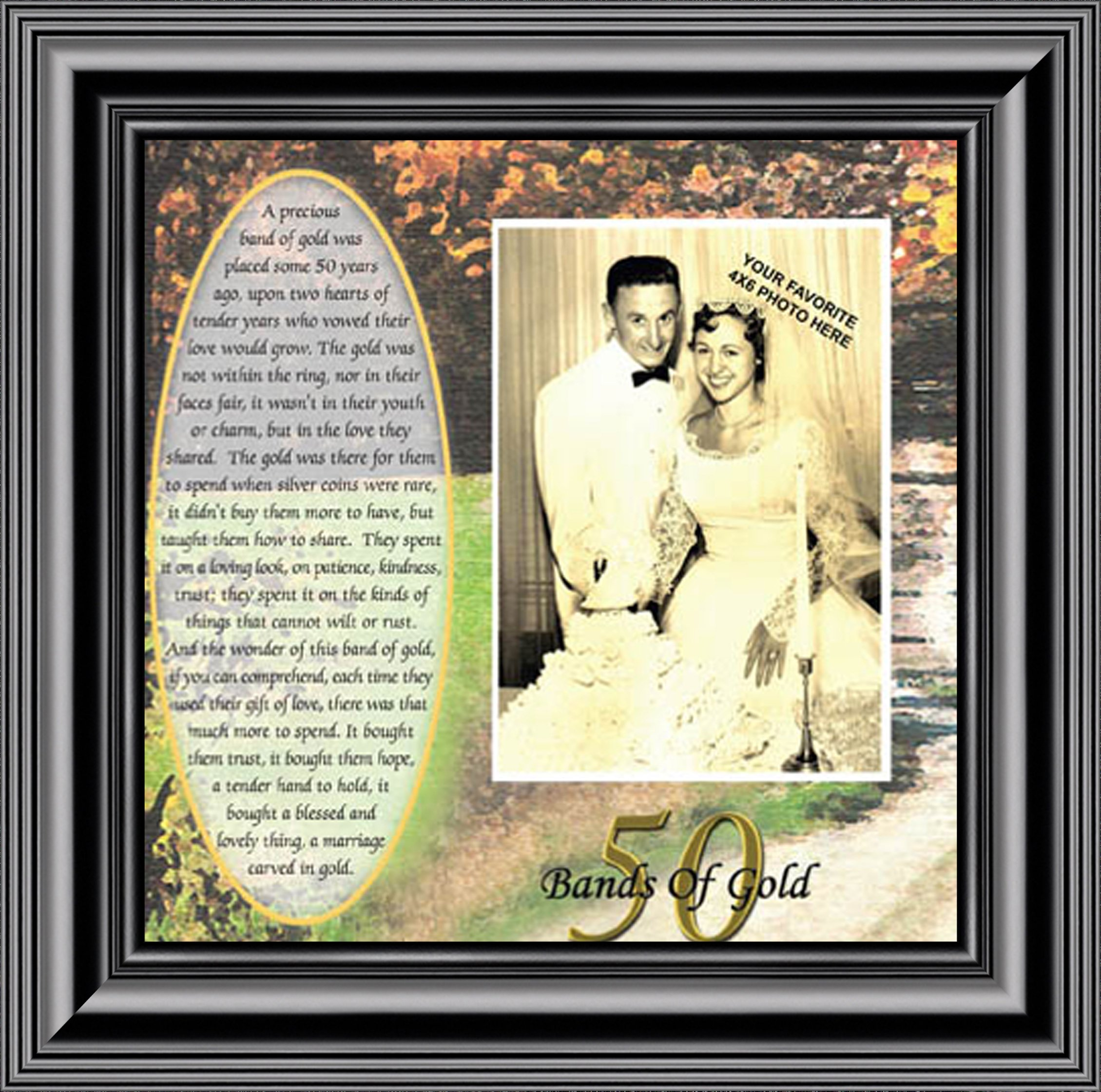 Bands Of Gold Anniversary Gift Personalized 50th Wedding