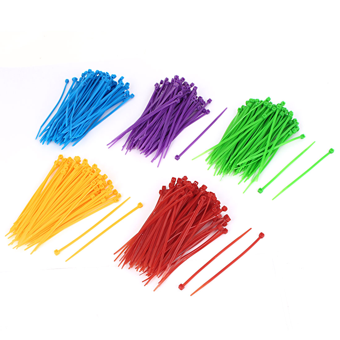 3mm x 100mm Network Cable Cord Wire Colourful Nylon Zip Ties 500 Pcs