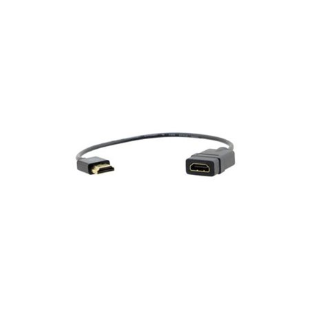 - Kramer Electronics 99-9490001 Ultra-Slim High-Speed HDMI Flexible Adapter M & F Cable with Ethernet - 1 ft.