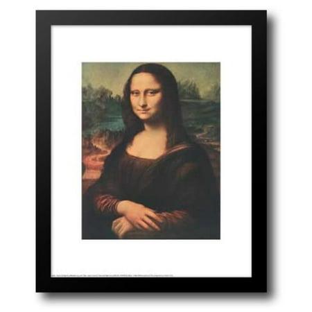 Mona Lisa, c.1507 15x18 Framed Art Print by Da Vinci, - Mona Lisa Framed