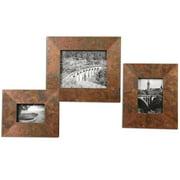 "Set of 3 Ambrosia Oxidized Copper Photo Frames 11""-15"""