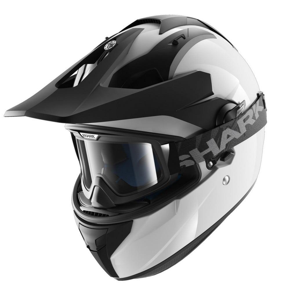 Shark Explore-R Blank Dual Sport Helmet White