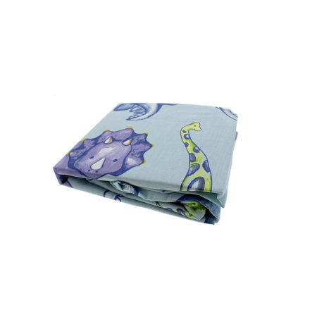 Truly Scrumptious by Heidi Klum Dinosaur Tracks Infant Boys Fitted Crib Sheet (Kidsline Infant Sheets)