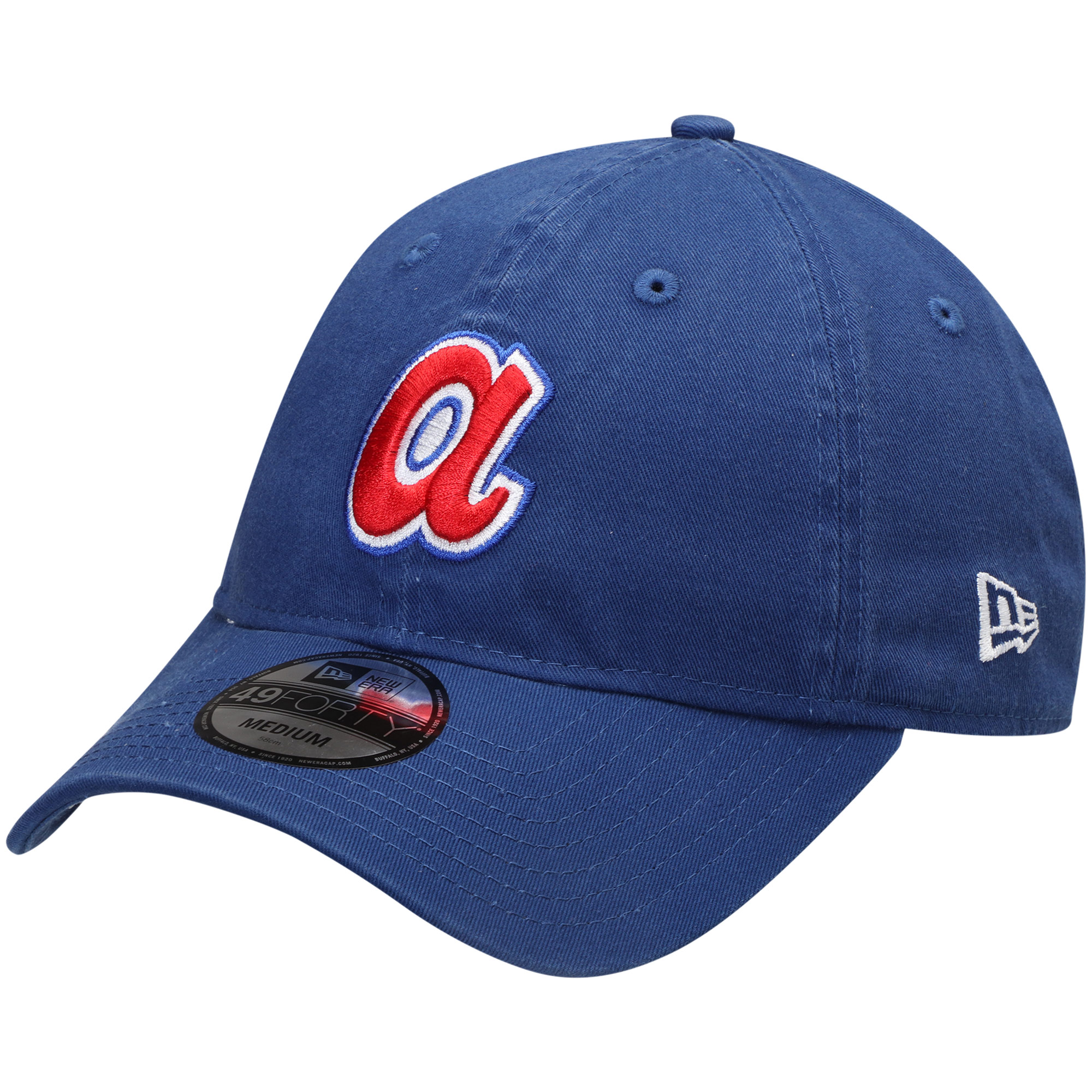 Atlanta Braves New Era 1974 Cooperstown Collection Core 49FORTY Fitted Hat - Royal