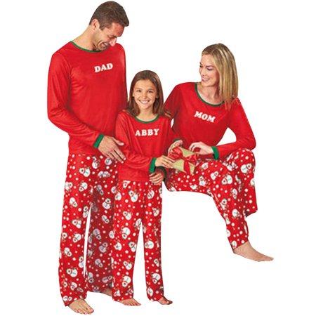 Starvnc Christmas Snowman Matching Family Pajamas Set Paternity Sleepwear Suit