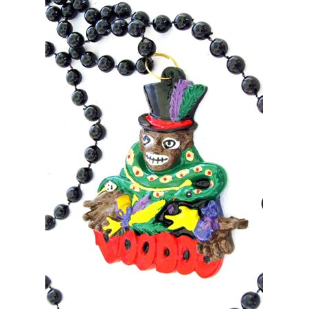 Parade Halloween New Orleans (Voodoo Doctor Mardi Gras Bead Necklace Doll Money Parade Beads, By New Orleans Ship from)