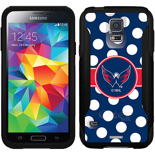 Washington Capitals Polka Dots Design on OtterBox Commuter Series Case for Samsung Galaxy S5