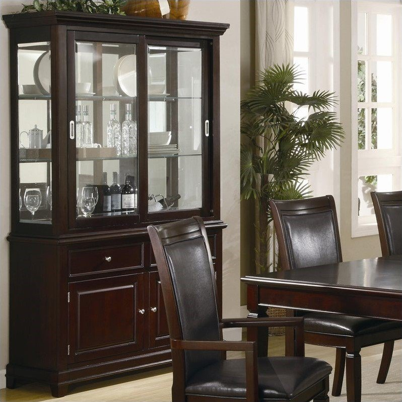 Coaster Ramona Formal Dining Room China Cabinet in Walnut by Coaster