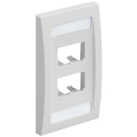 Panduit Mini-com 4 Sockets Single Gang Faceplate - 4 X Total Number Of Socket[s] - 1-gang - Off White (cfpe4iwy)
