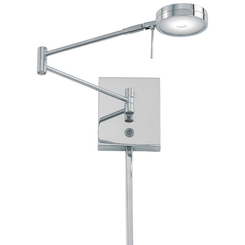 Apothecary Chrome LED Swing Arm Wall Lamp by