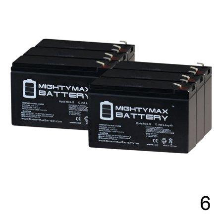 Ups Part - 12V 9Ah SLA Replaces APC Smart UPS RT 2000 XL SURTA2000XL - 6 Pack