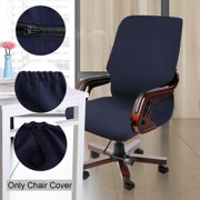 Piccocasa 1 Piece Spandex Swivel Chair Covers for Office,Waterproof,Medium/Black