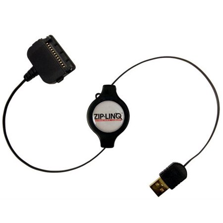 Ziplinq ZIP-DATA-P07 Retractable Handspring Edge Charge and Synch Cable (30 Inch, Black)