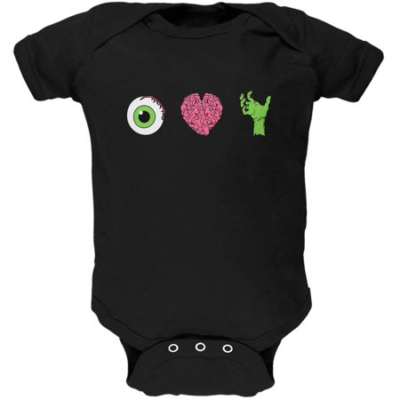 Halloween Eye Heart Zombies Soft Baby One Piece - Eye Heart Halloween