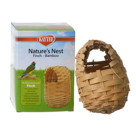 Finch Bird Nests - Kaytee Nature's Nest Bamboo Nest - Finch Regular - (3.75L x 3.75W x 4.5H)