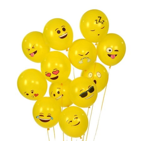 Cute Printed Big Eyes Face Smiley Face Latex Balloons for Party Birthday or Holiday Decoration Style 1 Pack of 10 Multi-color - image 3 of 7