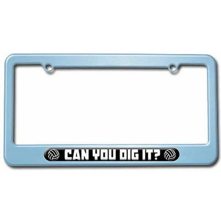 Volleyball Can You Dig It, Sports License Plate Tag Frame, Multiple ...