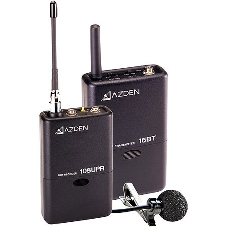 Azden 105LT 105 Series UHF Wireless Microphone System with 15BT Transmitter