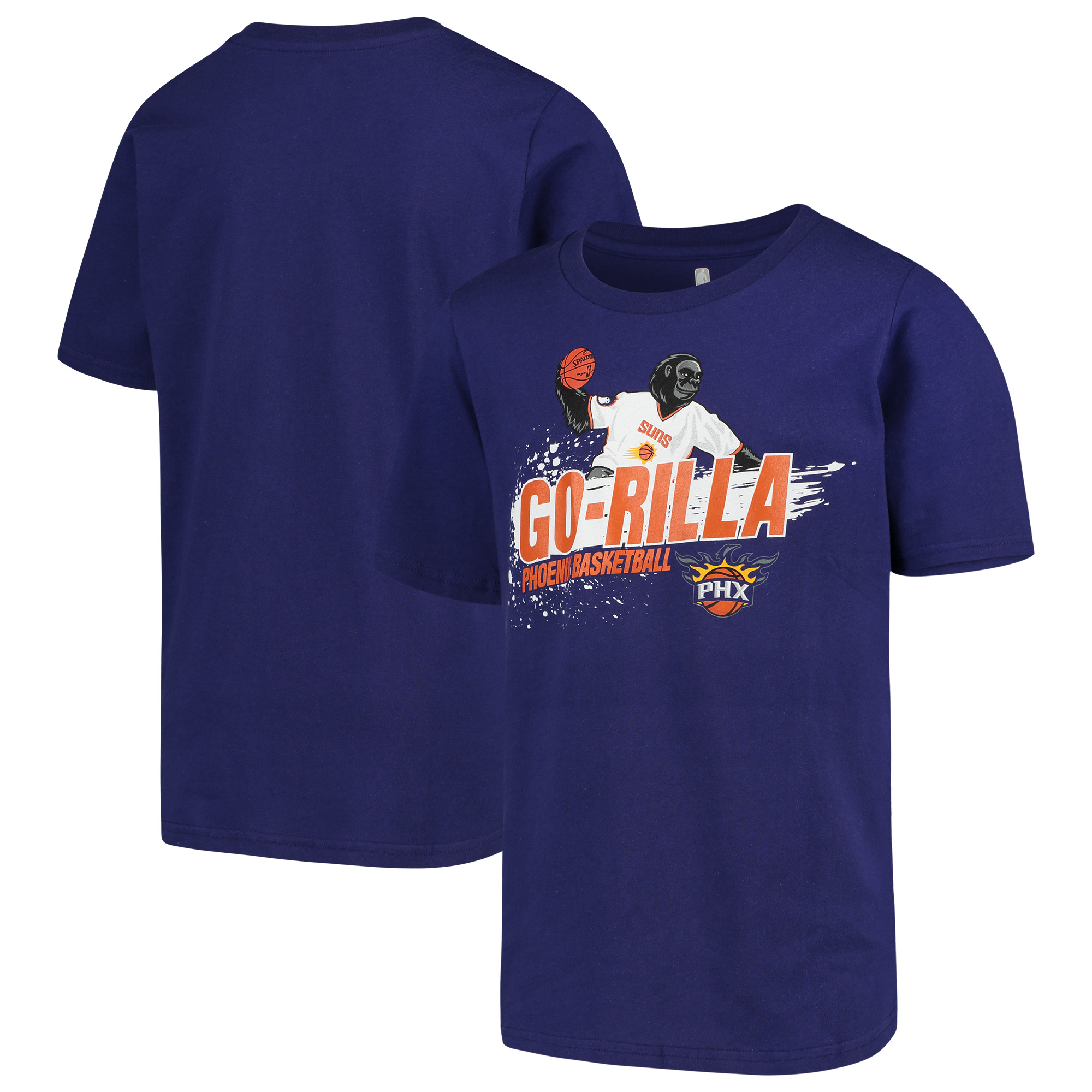 Phoenix Suns Youth Mascot Ice Break T-Shirt - Purple