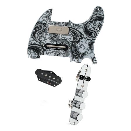 Fender Loaded Pickguard - Fender Tele Telecaster Loaded Pickguard Duncan Brent Mason Pickups Black Paisley
